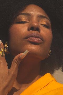 Close Up Portrait Of Black Woman