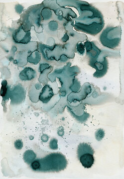 Green-grey ink abstract background