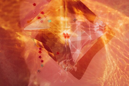 Shiny crystal and star shaped glitter