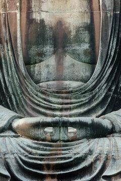 The hands of the Great Buddha of Kamakura