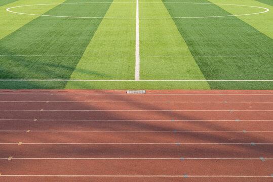 Modern university football field