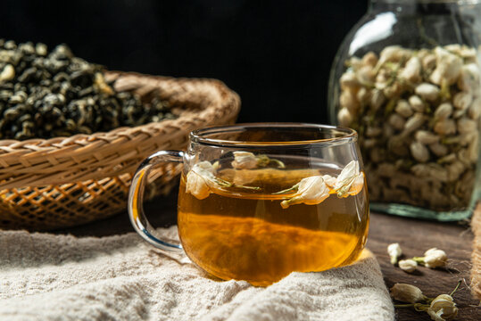 Chinese traditional jasmine tea, healthy diet