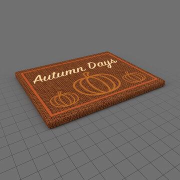 Autumn style doormat