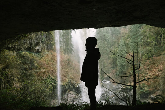 Behind an Oregon Waterfall
