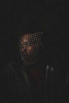 Portrait oF Black Man In A Face Mask