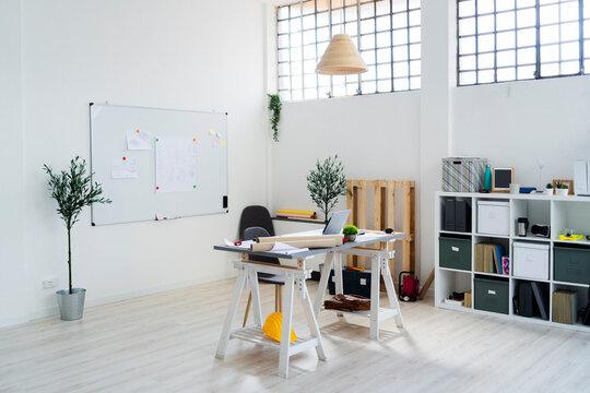 Interior of architect studio