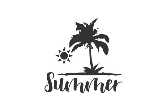 Summer, The Best Summer, Tropical Vacation, Girl Sunglasses, Cut file, for silhouette, svg