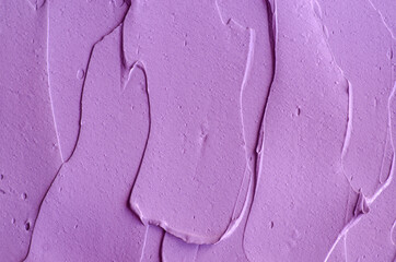 Purple clay (alginate face mask, body wrap, hair conditioner) texture close up, selective focus....
