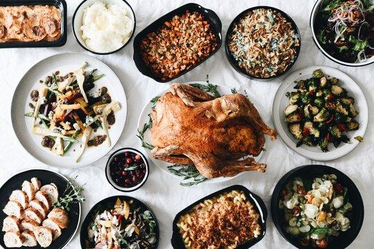 Thanksgiving dinner turkey