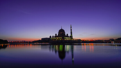 Masjid Putra & Prime Minister Office, Putrajaya with sunrise scenery on early