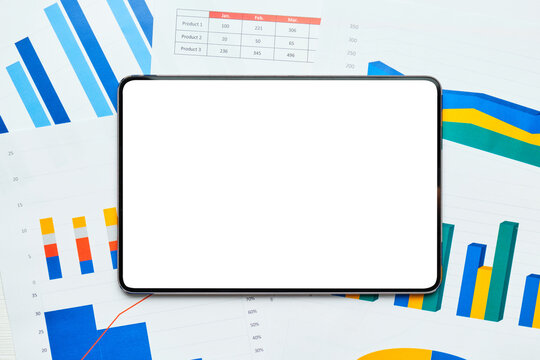 Electronic tablet to copy space on sheets with graphs and reports