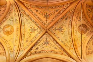 REGGIO EMILIA, ITALY - APRIL 14, 2018: The ceiling fresco in church chiesa di San Francesco.