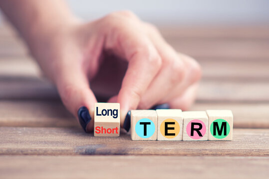 Long term goals versus short ones concept