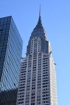 Das berühmte Chrysler Building ist ein Wahrzeichen von Manhatten und New York City. Es wurde im Jahre 1976 in die Liste der National Historic Landmark aufgenommen. Aufgenommen am 30. November 2019.