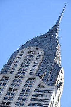 Das historische Chrysler Building steht im Stadtteil Midtown in Manhatten und ist eines der Wahrzeichen von NYC - New York City. Aufgenommen am 30. November 2019.