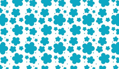 seamless pattern with flowers on white background.