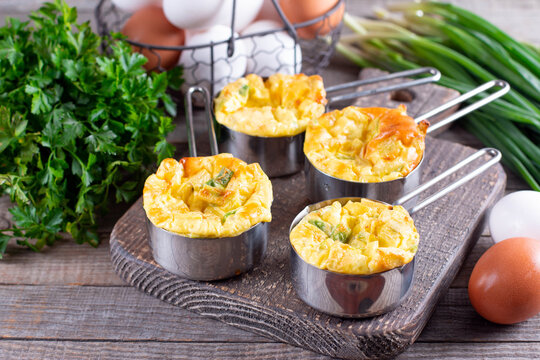 Homemade mini egg muffins, keto, ketogenic, low carb diet and gluten free food