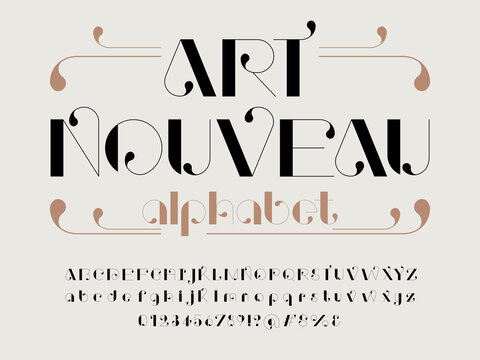 Vector of stylized modern art alphabet design