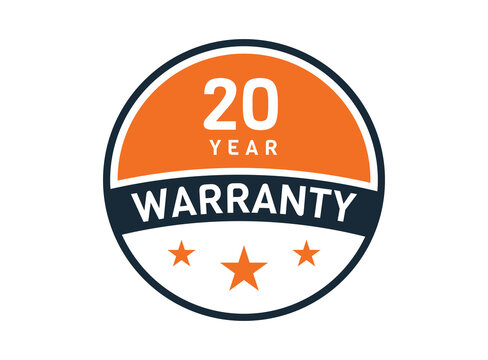 20 year warranty, 20 years warranty badge