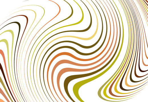 Twist, vortex lines, stripes. Wavy, waving concentric strips and streaks. Rotation, torsion and gyration effect on random stripes