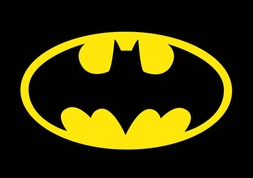 Bologna / Italy - July 26, 2020: The famous Batman logo to celebrate the Batmans 80th birthday.