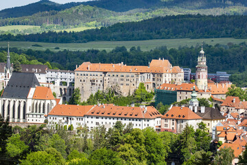 Castle in Cesky Krumlov in the Czech Republic
