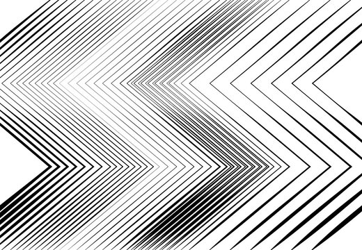 Corrugated, wavy, zig-zag, criss-cross, creased lines abstract geometric black and white, monochrome, grayscale pattern, background, texture or backdrop