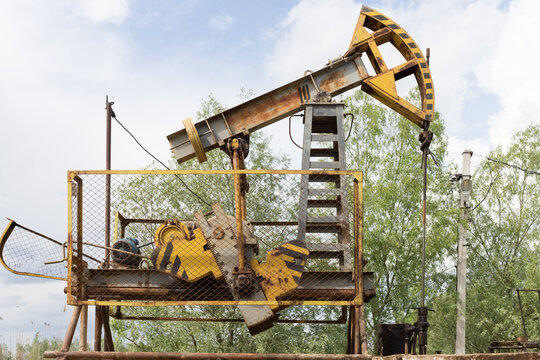 A pump for an oil well in the Moldavian oil field.