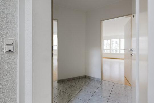 Leere Wohnung Apartment Immobilie bereit für Einzug Wohnungsbesichtigung