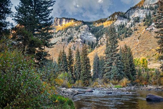 Rocky Mountain Range in Colorado during the season of Autumn