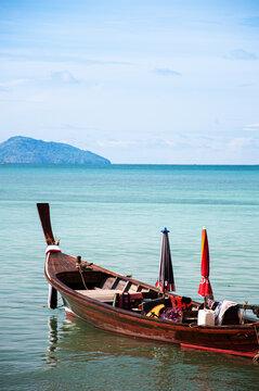 Thailand longtail fishing boat at Chalong bay. Phuket