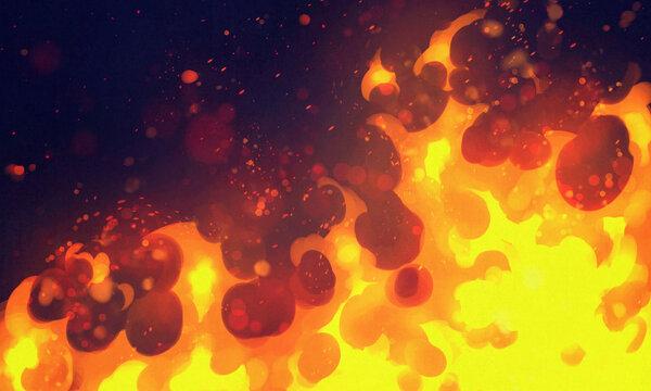 燃え盛る炎の背景