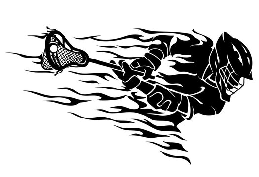 Lacrosse Abstract Flame Charging