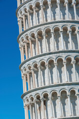 Fototapete - Details of leaning tower in Pisa, Tuscany, Italy