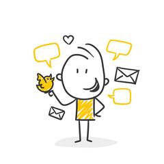 Fototapeta Strichfiguren / Strichmännchen: Kommunikation, Tweet, Mail. (Nr. 561) obraz
