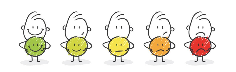 Strichfiguren / Strichmännchen: Bewertung, Smiley. (Nr. 558)