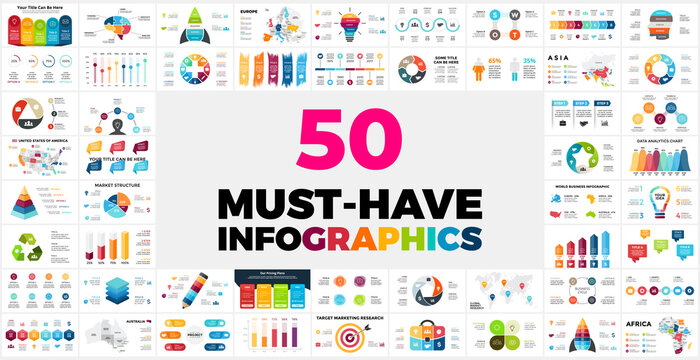 50 Must-Have Infographics for your presentation. Special Offer with my best info graphic templates.