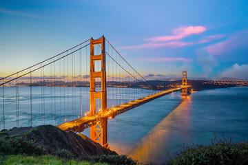 Wall Mural - Famous Golden Gate Bridge, San Francisco in USA