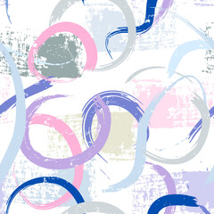 seamless abstract background pattern, with semicircles, paint strokes and splashes