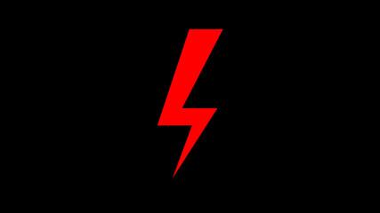 Czerwony piorun na czarnym tle, prąd , strajk kobiet