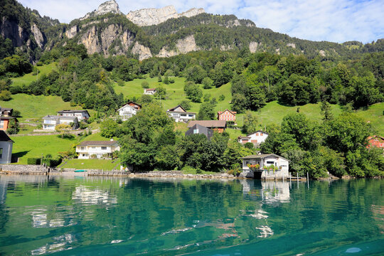 There are buildings of small village of Bauen