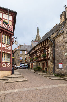 Josselin, France. One of the streets in the old town