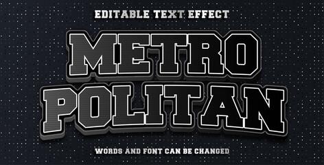 Wall Mural - metropolitan editable font effect