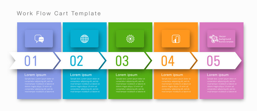 Timeline. Business chart template. Vector graphics.