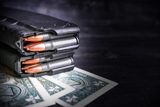 gun and money