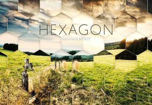 Hexagon Fractal Mirror Photo Effect