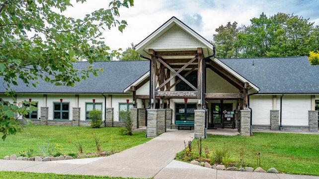 Benton, PA - Sept. 3, 2020: Ricketts Glen Pennsylvania State Park visitor center
