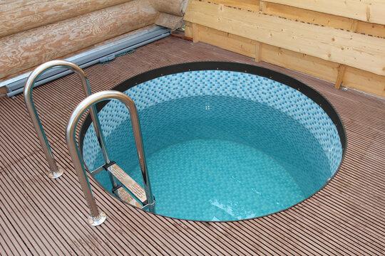 Closeup shot of a small pool