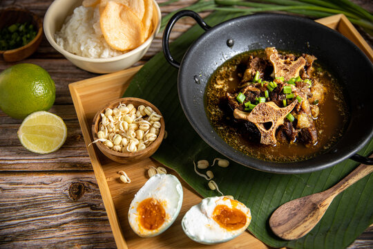 Oxtail Soup or Sop Buntut, Indonesian own Beef Stew Traditional Soup Food