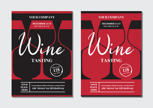 Wine Tasting Poster and Flyer